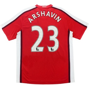 2008-10 Arsenal Home Shirt Arshavin #23 (Excellent) L