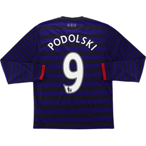 2012-13 Arsenal Away L/S Shirt Podolski #9 (Very Good) M