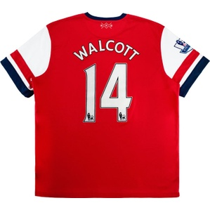 2012-14 Arsenal Home Shirt Walcott #14 (Good) XXL