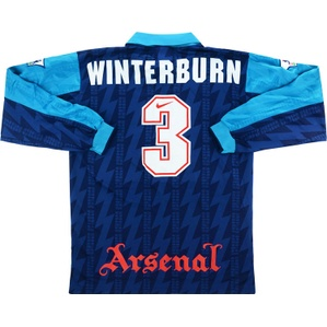 1994-95 Arsenal Match Issue Away L/S Shirt Winterburn #3