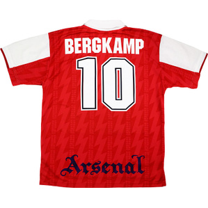 1995-96 Arsenal Home Shirt Bergkamp #10 (Excellent) L
