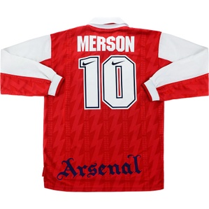 1994-95 Arsenal Home L/S Shirt Merson #10 *Mint* L