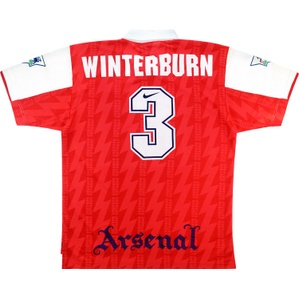 1994-95 Arsenal Match Issue Home Shirt Winterburn #3