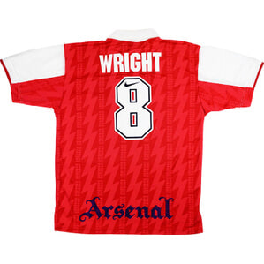 1994-96 Arsenal Home Shirt Wright #8 (Very Good) M