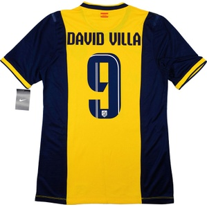 2013-15 Atletico Madrid Player Issue Away Shirt David Villa #9 *w/Tags* XL