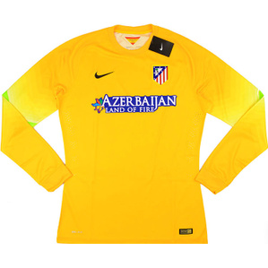 2014-15 Atletico Madrid Player Issue GK Yellow Shirt *w/Tags*