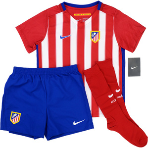 2015-16 Atletico Madrid Home Full Kit *BNIB* 3/4 Years