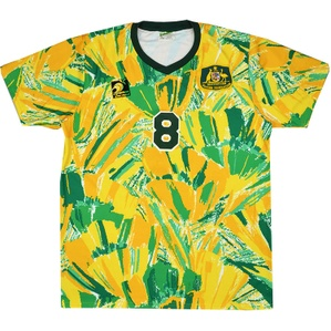 1992 Australia Match Worn Olympic Qualification Home Shirt #8 (Okon) v Holland