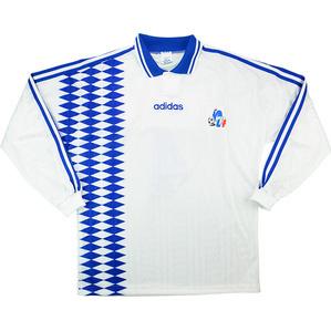 1994-95 Auxerre Match Worn Coupe de la Ligue Home L/S Shirt #4 (Verlaat) v PSG