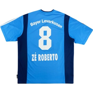 2001-02 Bayer Leverkusen Away Shirt Ze Roberto #8 (Very Good) XL