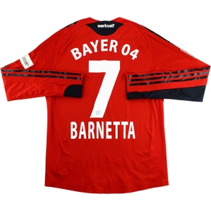 2008-10 Bayer Leverkusen Match Issue Signed Home Shirt Barnetta #7
