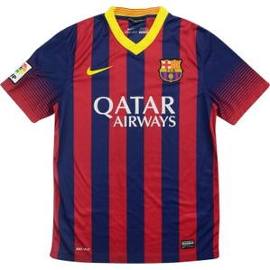 2013-14 Barcelona Home Shirt (Excellent) L.Boys