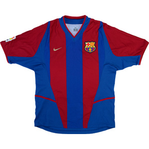 2002-03 Barcelona Home Shirt (Very Good) S