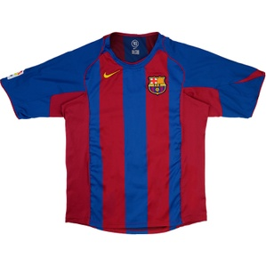 2004-05 Barcelona Home Shirt (Good) S