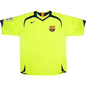 2005-06 Barcelona Away Shirt (Excellent) M.Boys
