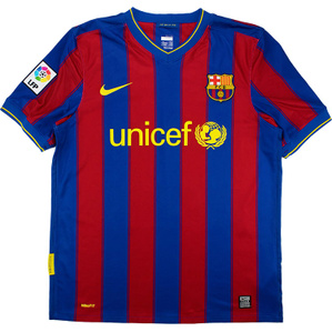 2009-10 Barcelona Home Shirt (Excellent) M
