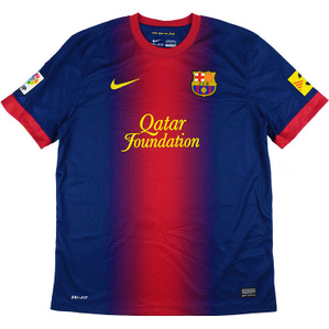 2012-13 Barcelona Home Shirt (Very Good) S
