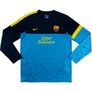 2012-13 Barcelona Nike Training L/S Shirt (Excellent) XL