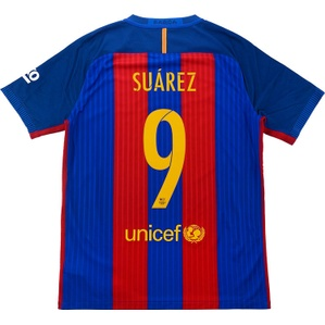 2016-17 Barcelona Player Issue 'Authentic' Home Shirt Suárez #9 *w/Tags*