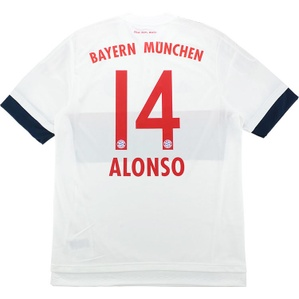 2015-16 Bayern Munich Adizero Player Issue Away Shirt Alonso #14 *w/Tags*