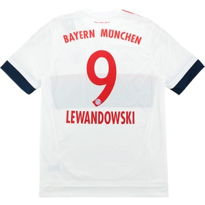 2015-16 Bayern Munich Adizero Player Issue Away Shirt Lewandowski #9 *w/Tags*