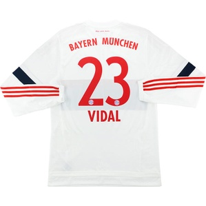 2015-16 Bayern Munich Adizero Player Issue Away L/S Shirt Vidal #23 *w/Tags*