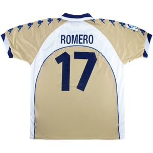 2000-01 Real Betis Player Issue Away Shirt Romero #17 *As New* XL