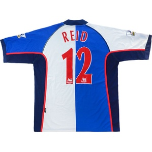 2003-04 Blackburn Match Worn Home Shirt Reid #12 (v Liverpool)