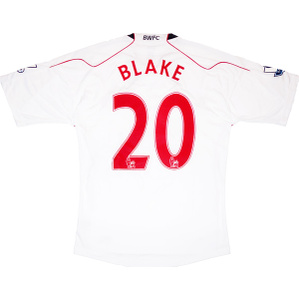 2010-11 Bolton Match Issue Home Shirt Blake #20 L