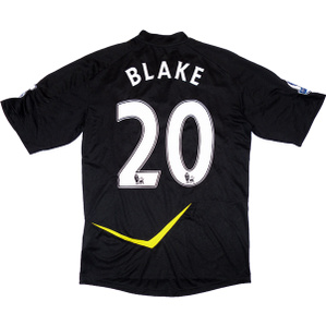 2011-12 Bolton Match Issue Away Shirt Blake #20 L