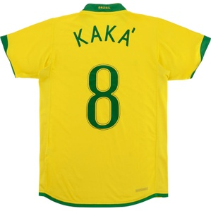2006-08 Brazil Home Shirt Kaka' #8 (Good) S