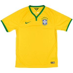 2014-15 Brazil Home Shirt (Very Good) XL