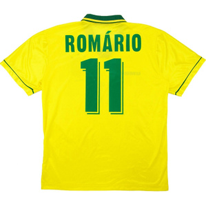 1994-97 Brazil Home Shirt Romario #11 (Very Good) M