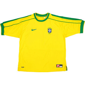 1998-00 Brazil Home Shirt (Good) L