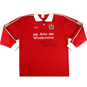 1994-95 Bristol City Match Issue Home L/S Shirt #14 (Patridge)