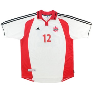 2002 Canada Match Worn Away Shirt #12 (v Switzerland)