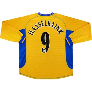 2001-02 Chelsea Player Issue Third L/S Shirt Hasselbaink #9 *Mint* XXL