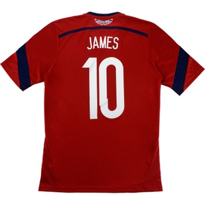 2014-15 Colombia Away Shirt James #10 *Mint* S