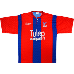 1991-92 Crystal Palace Home Shirt (Very Good) L