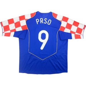 2004-06 Croatia Player Issue Away Shirt Prso #9 (Very Good) XL