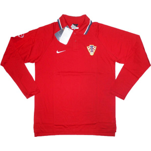 2006-08 Croatia Player Issue Red Polo L/S T-shirt *BNIB*