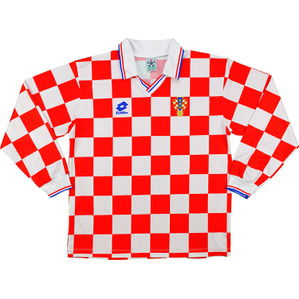 1995-96 Croatia Home L/S Shirt (Excellent) S