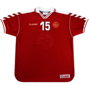 1998-00 Denmark Match Issue Home Shirt #15