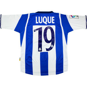 2004-05 Deportivo Home Shirt Luque #19 (Very Good) S