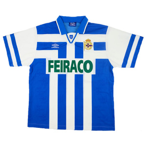 1994-97 Deportivo Home Shirt (Excellent) XL
