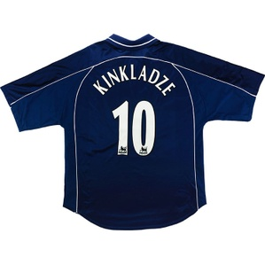 2000-01 Derby County Away Shirt Kinkladze #10 (Excellent) XL