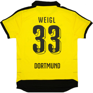 2015-16 Dortmund Home Shirt Weigl #33 *w/Tags*