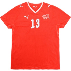 2008-10 Switzerland Match Issue Home Shirt #13
