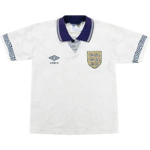 1990-92 England Home Shirt (Fair) S.Boys
