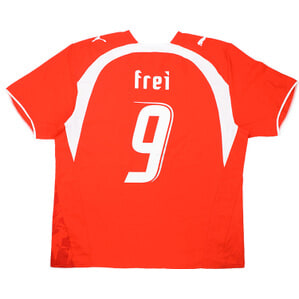 2006-08 Switzerland Home Shirt Frei #9 (Very Good) S